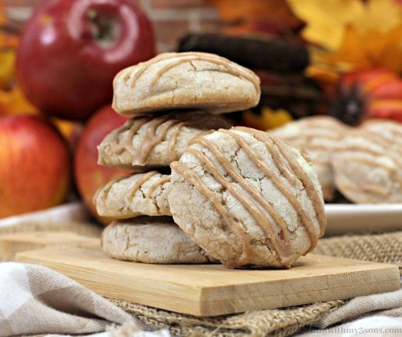 Apple Pie Cookies with Spiced Glaze
