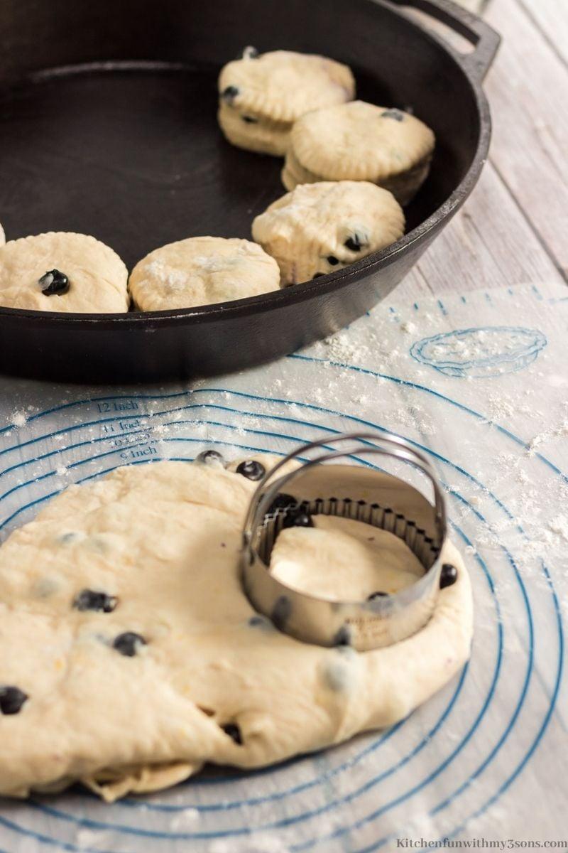 cut the biscuits