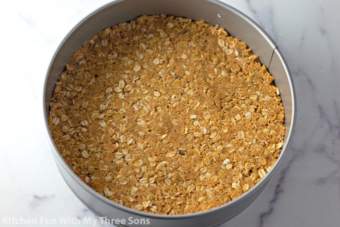 crust in a springform pan
