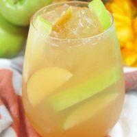 Caramel Apple Cider Bourbon Cocktail