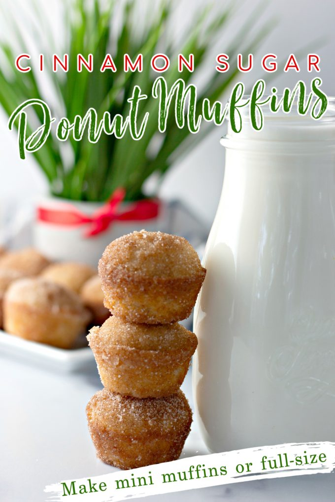 Cinnamon Sugar Donut Muffins on Pinterest