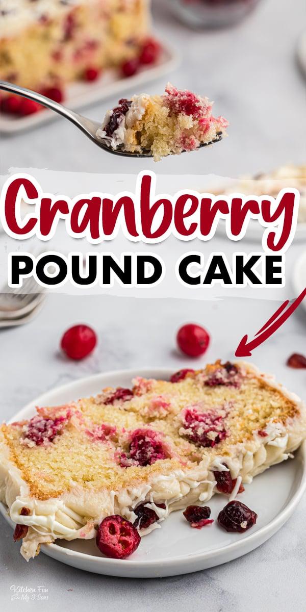 Cranberry Pound Cake