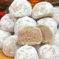 Pumpkin Spice Snowball Cookies