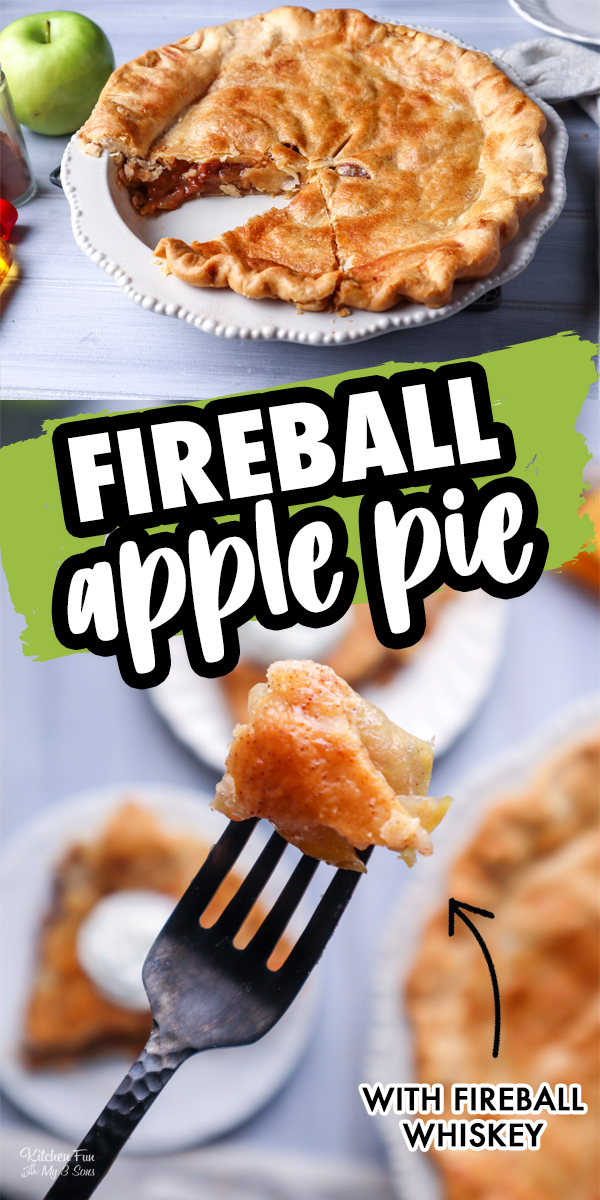Fireball Apple Pie with a homemade caramel sauce, fresh Granny Smith apples, real Fireball whiskey and a cinnamon sugar glaze is delicious.