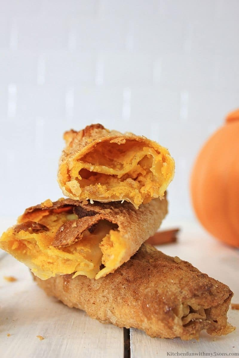 Pumpkin Air Fryer Cheesecake Egg Rolls