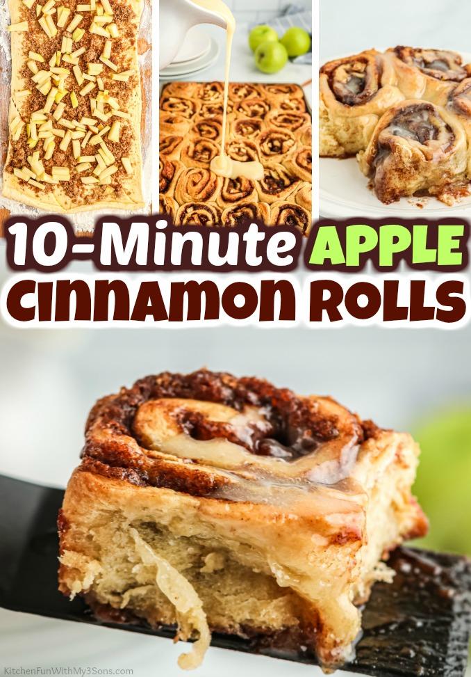 10 Minute Apple Cinnamon Rolls