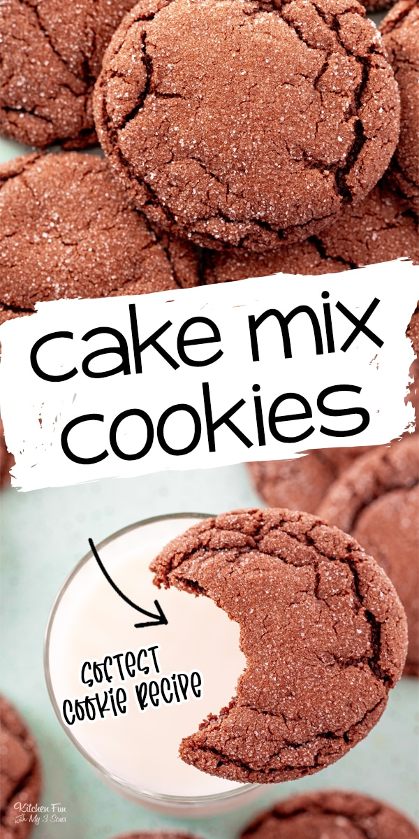 Chocolate Cake Mix Cookies are the softest and most chewy cookie recipe ever. It takes just four ingredients and ten minutes in the oven.