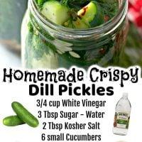 Homemade Refrigerator Dill Pickles