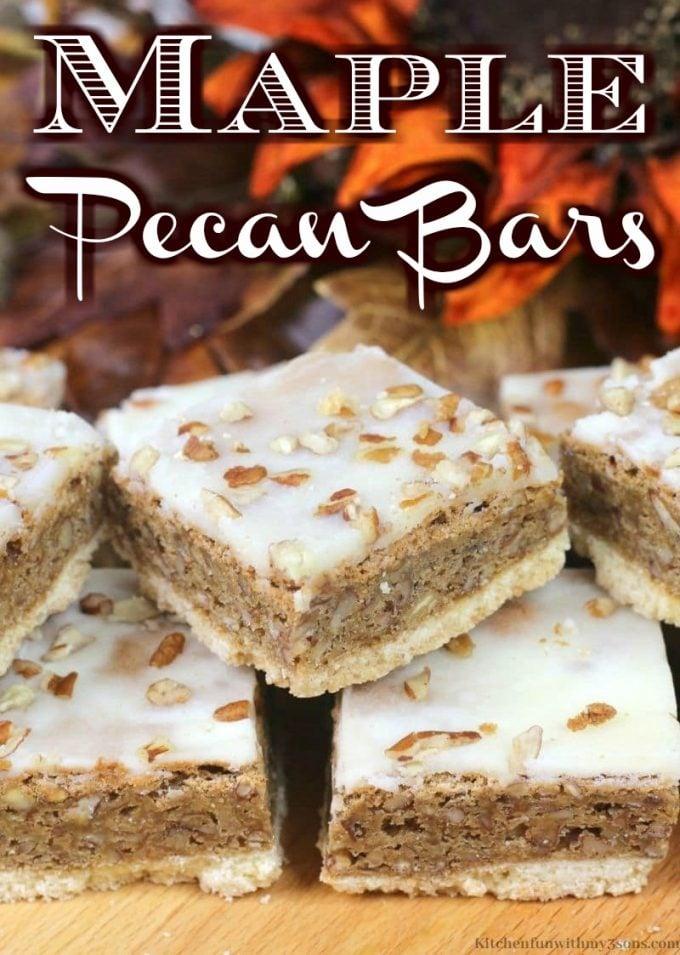 Maple Pecan Bars