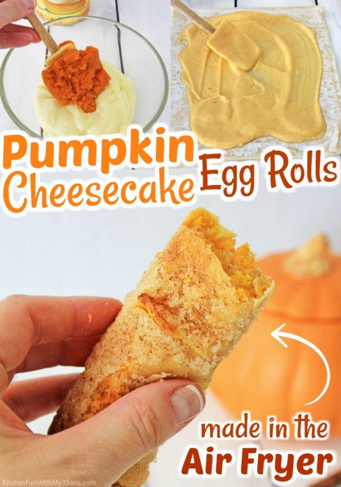 Pumpkin Cheesecake Egg Rolls
