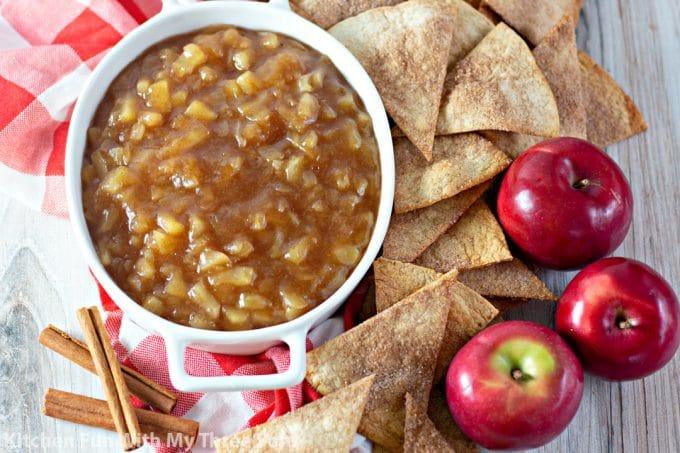 Apple Salsa with Cinnamon Sugar Chips