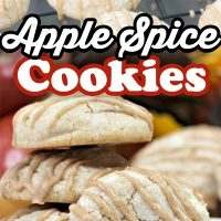Apple Spice Cookies with an apple spice glaze on top. Great fall dessert recipe for anyone who loves apples and apple pie!