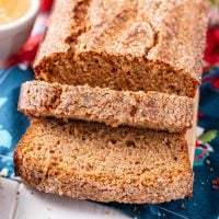 Applesauce Bread is a simple and spicy quick bread is made with applesauce, sugar and warm spices and will have your house smelling like fall!