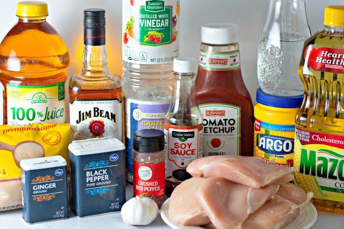 ingredients to make Bourbon Chicken Recipe