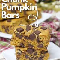 chocolate chunk pumpkin bars