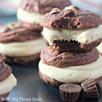 Peanut Butter Cup Chocolate Sandwich Cookies