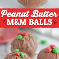 Christmas Peanut Butter M&M Balls