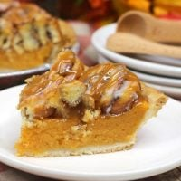 Cinnamon Roll Sweet Potato Pie