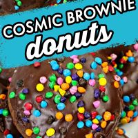 Cosmic Brownie Donuts - a yummy homemade chocolate donut with chocolate icing.