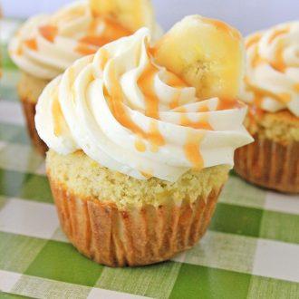 Banana Caramel Cupcakes