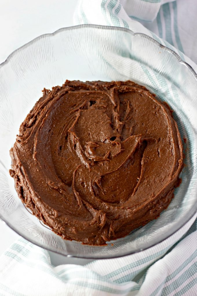 brownie batter in a bowl