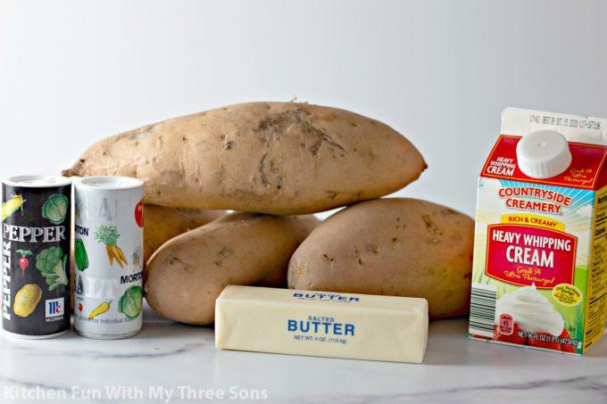 ingredients to make Mashed Sweet Potatoes