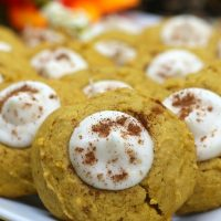 Pumpkin Thumbprint Cookies (Cheesecake Filling)