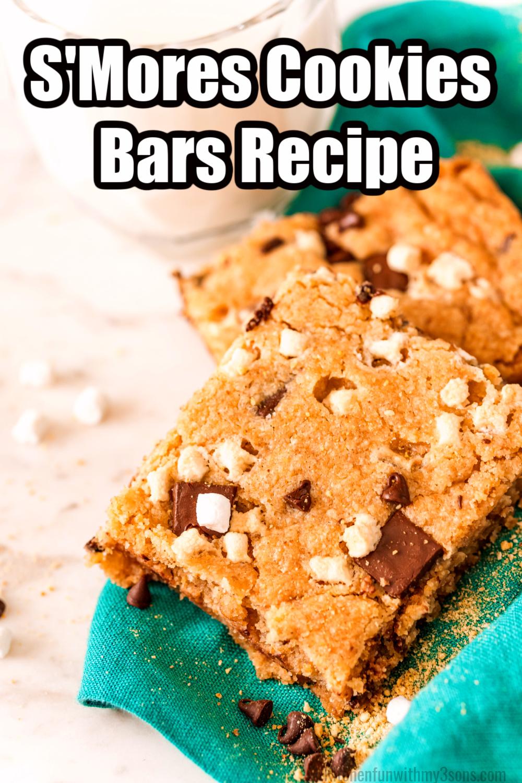 smores cookies bars recipe