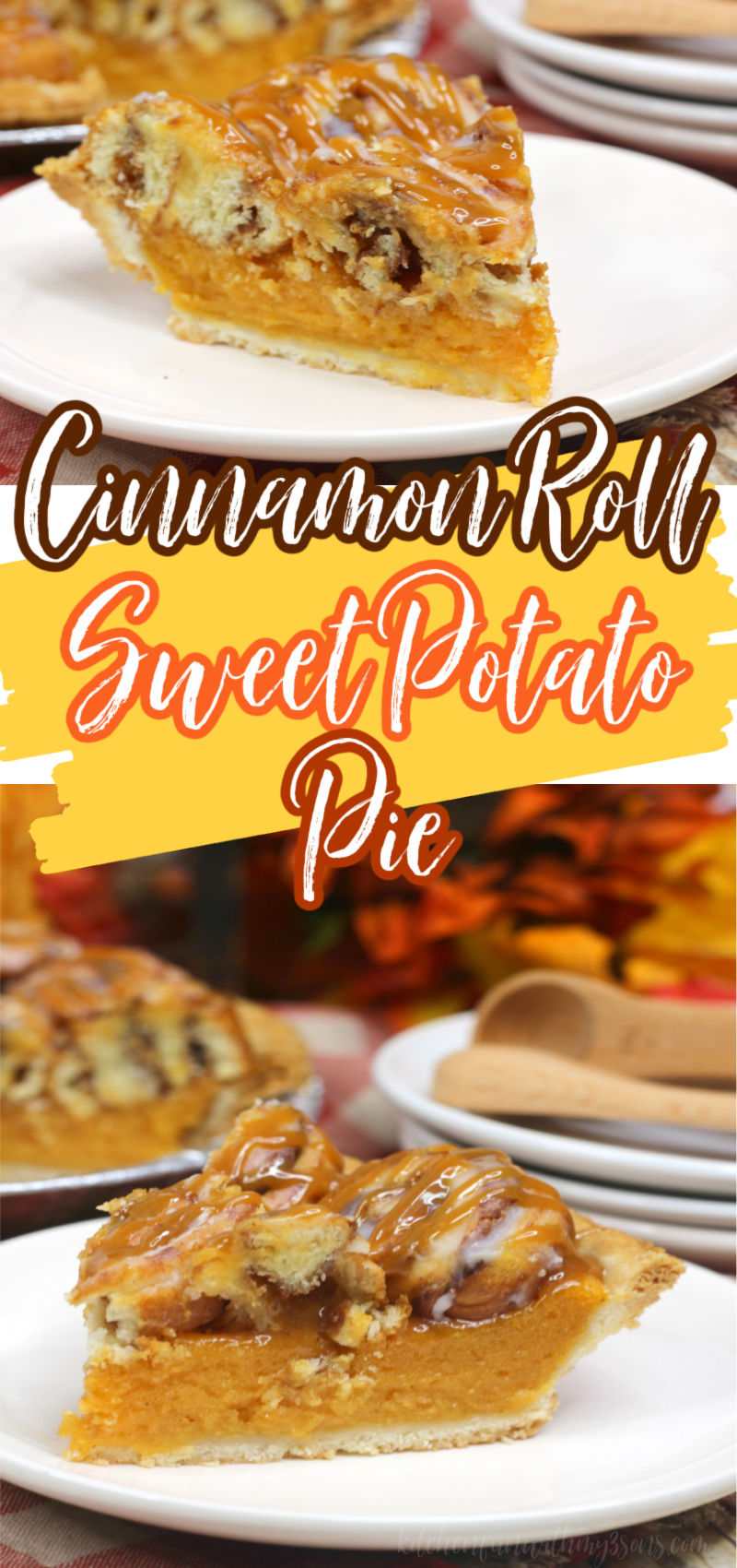 cinnamon roll sweet potato pie