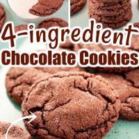 4-ingredient Chocolate Cake Mix Cookies
