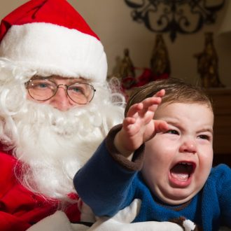 Child Crying Santa