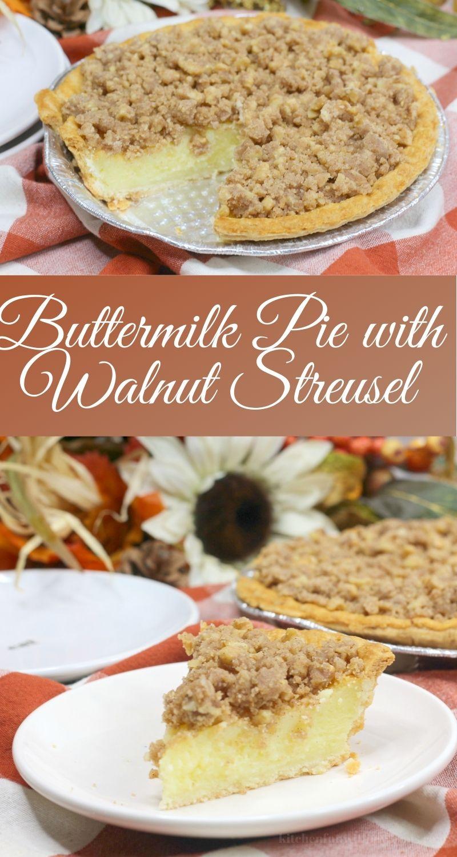 pinterest image for buttermilk pie