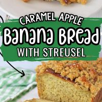 Caramel Apple Banana Bread with Streusel