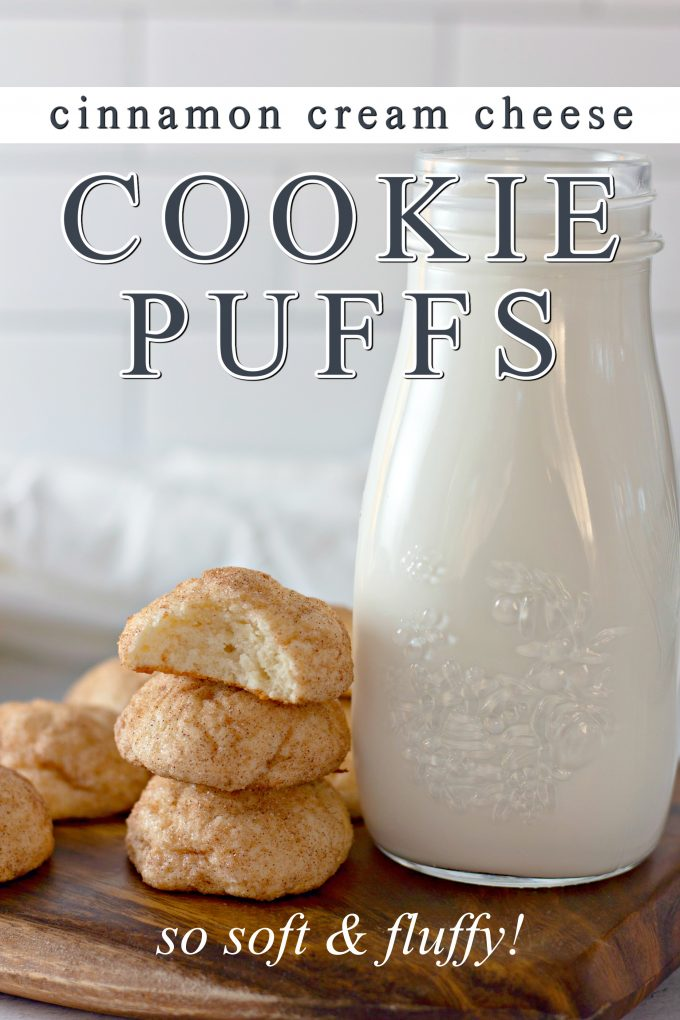 Cinnamon Cream Cheese Cookie Puffs