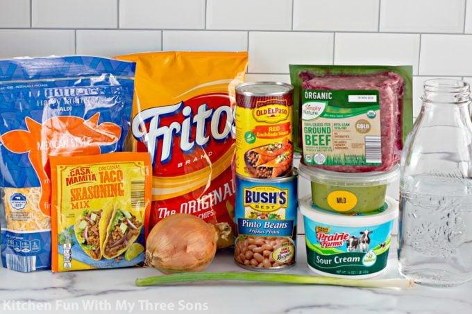 ingredients to make Easy Fritos Pie Recipe
