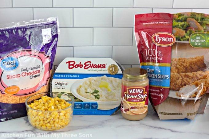 ingredients to make KFC Bowl Casserole