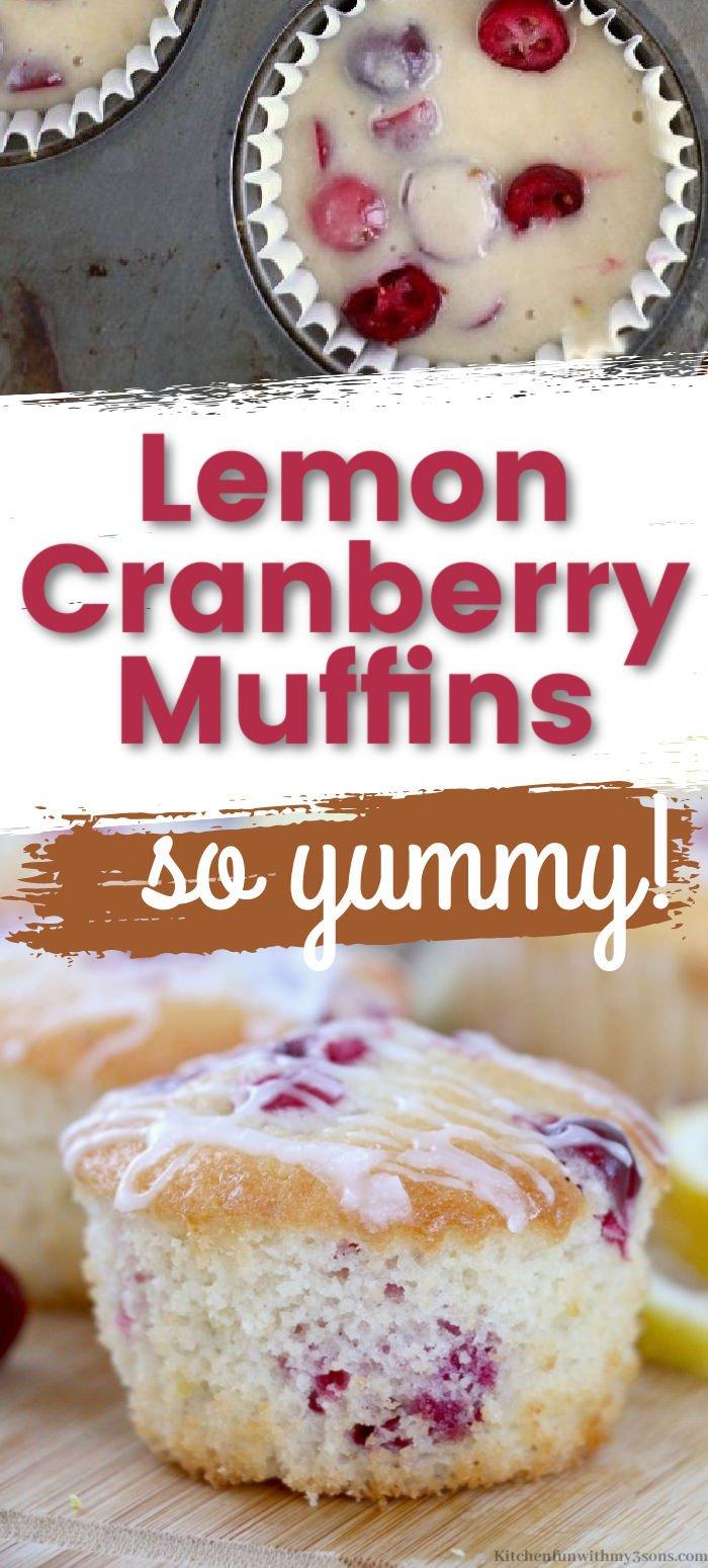 Glazed Lemon Cranberry Muffins