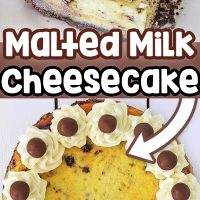 This amazing Instant Pot Malted Cheesecake is a great dessert to share with your family and friends. This cheesecake is made in the Instant Pot and brings together all the best flavors of a creamy cheesecake with a chocolate crust and combined with malted milk balls.