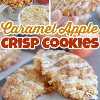 Caramel Apple Crisp Cookies