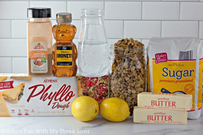 ingredients to make Classic Baklava Recipe