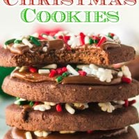 Frosted Chocolate Christmas Cookies