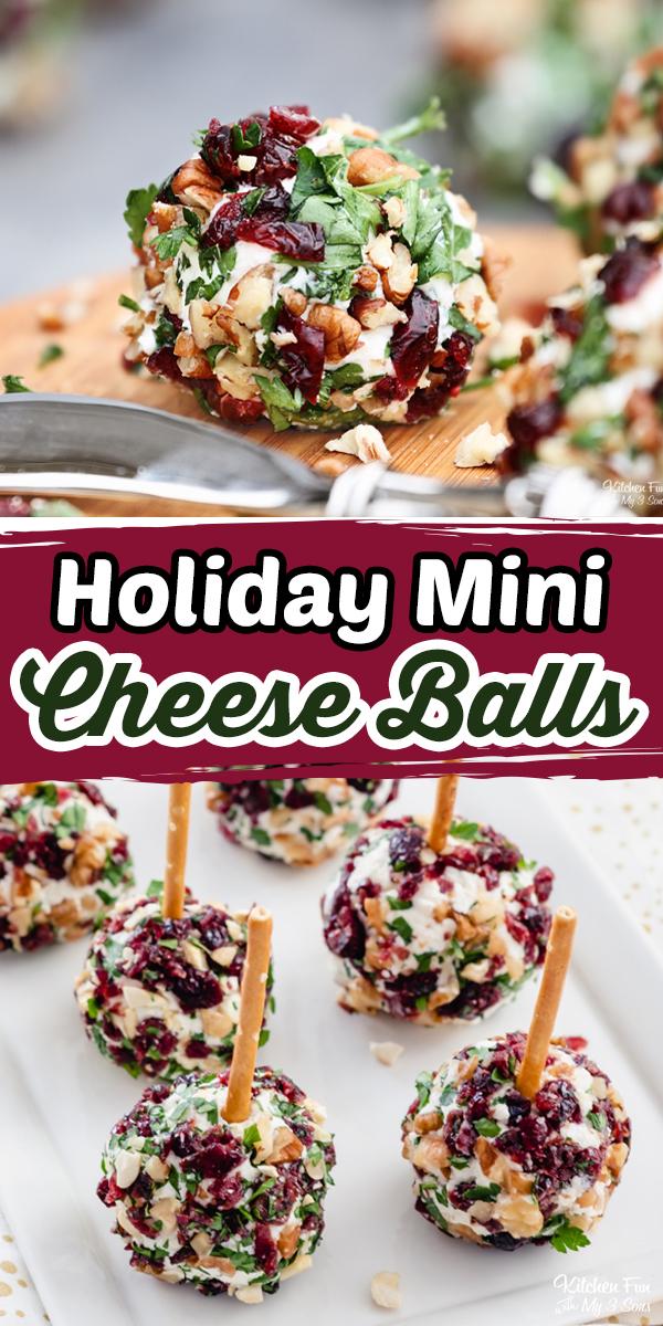Christmas Mini Cheese Ball Bites