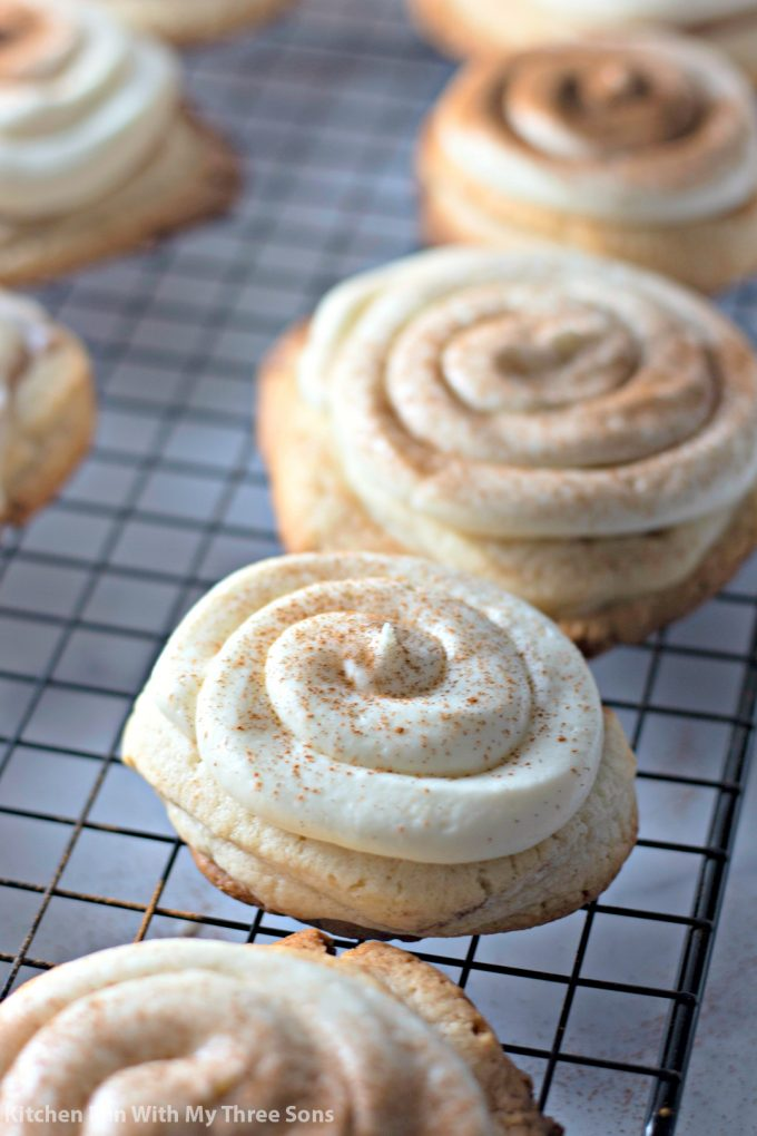 Frosted Cinnamon Roll Cookies