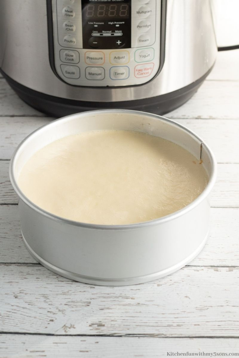 The finished batter in the prepared pan.