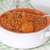 Crock-Pot Kielbasa Sausage and Beans