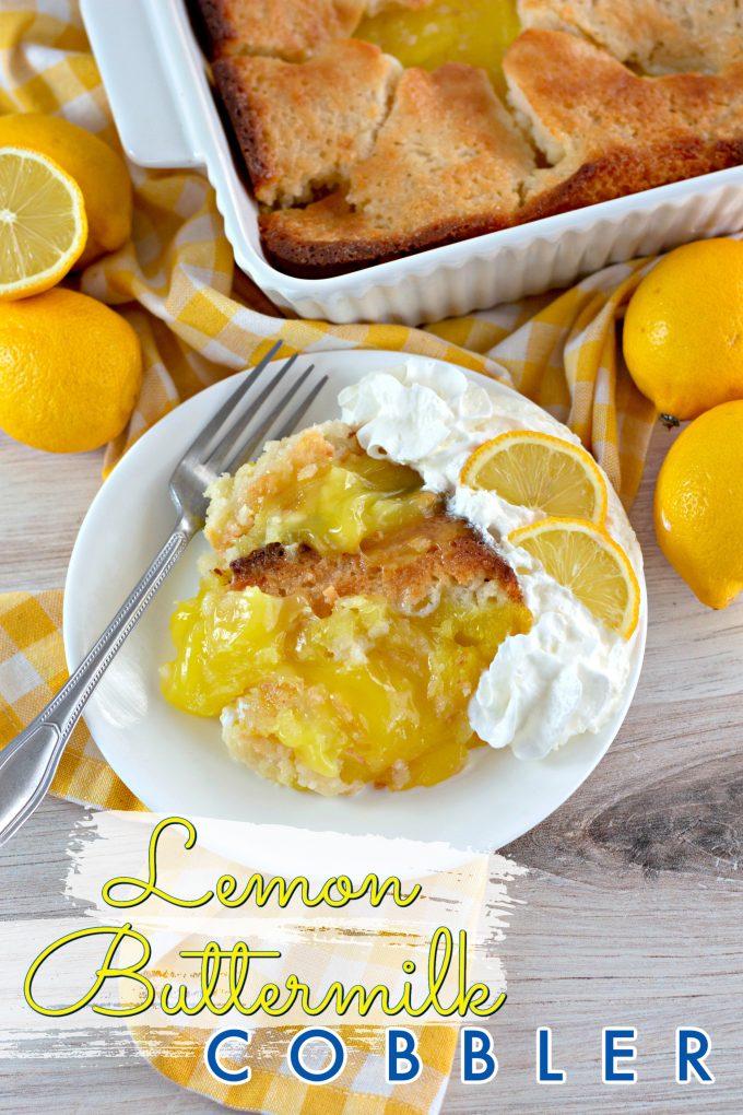 Magic Lemon Buttermilk Cobbler on Pinterest