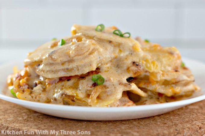 Cheesy Loaded Scalloped Potatoes