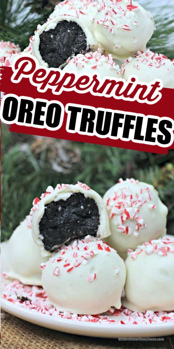 White Chocolate Peppermint Oreo Truffles