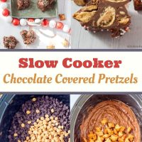 Slow Cooker Chocolate Covered Peanut Butter Pretzels