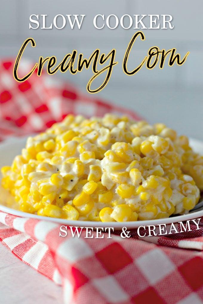 Crock Pot Creamed Corn Recipe on Pinterest